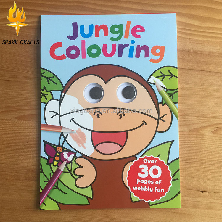Custom Child googly eye coloring book for kids