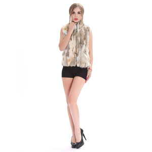 2019 Yiwu New Fashion Women's Small Pieces Of Rabbit Genuine Fur Vest