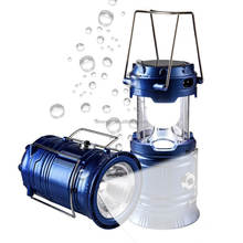 LED Camping Lantern Flash light with Solar Charge, Emergency,Tent Light,Hiking,Outages,Collapsible Super Bright