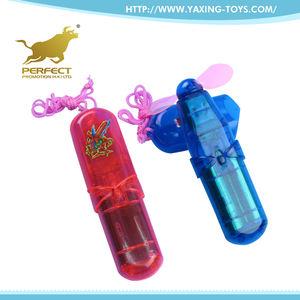 Atacado lâmina de operação da bateria elétrica PVC transparente mini ventilador do brinquedo para crianças