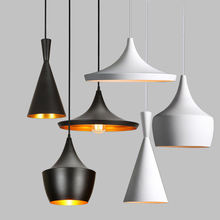 Hot Selling Black and White Metal Pendant Light Restaurant Hanging Lamps