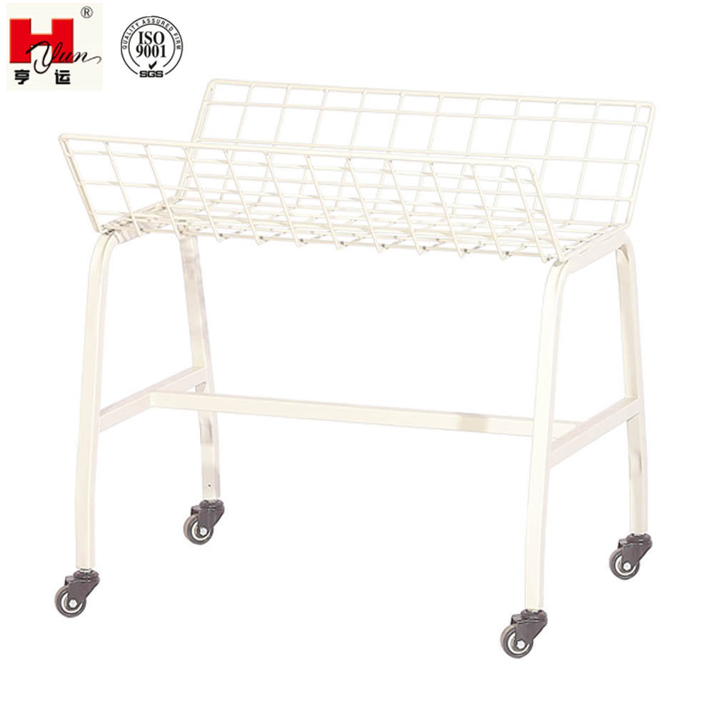 Small Single-layer U Shape Sewing Room Trims Trolley Cut Piece Trolley for Garment Factory