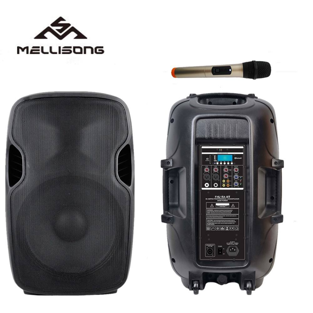 15 Inch Microphone Wireless UHF Professional Class D Active PA Stage Speaker FHL15A-BT Series