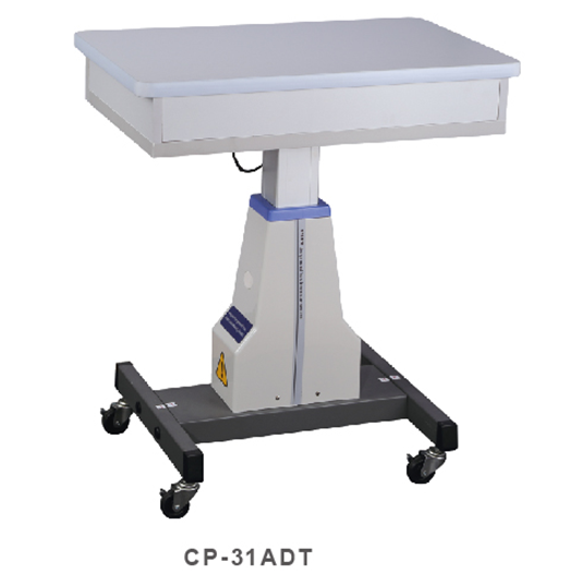 Optical ophthalmic lifting motorized table