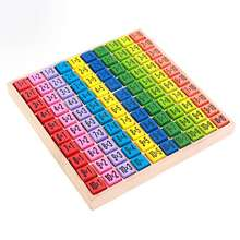 Mathematics Educational Math Wooden Toys Multiplication Table Kids Baby puzzle blocks for Montessori
