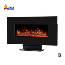 multicolor flat & modern design wall mounted electric fireplace heater with remote control