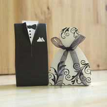 Best selling bride and groom wedding favor paper candy box