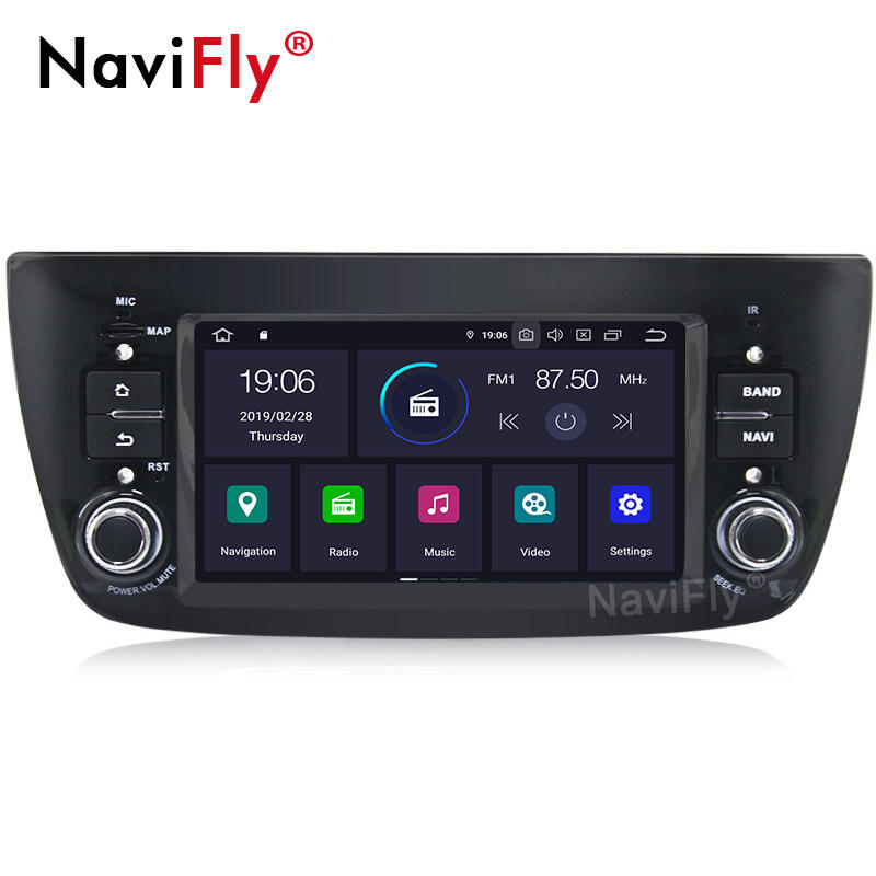 "Navifly 6.2 ""HD PX30 Android 9.0 Quad Core IPS + DSP Car DVD Player untuk Fiat Doblo Opel Combo tour 2010-2015 dengan 2GB + 16G GPS"