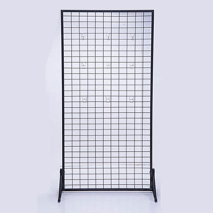 Metal customized wire mesh rack clothing workout clothing fitness clothing unisex t-shirts Display rack