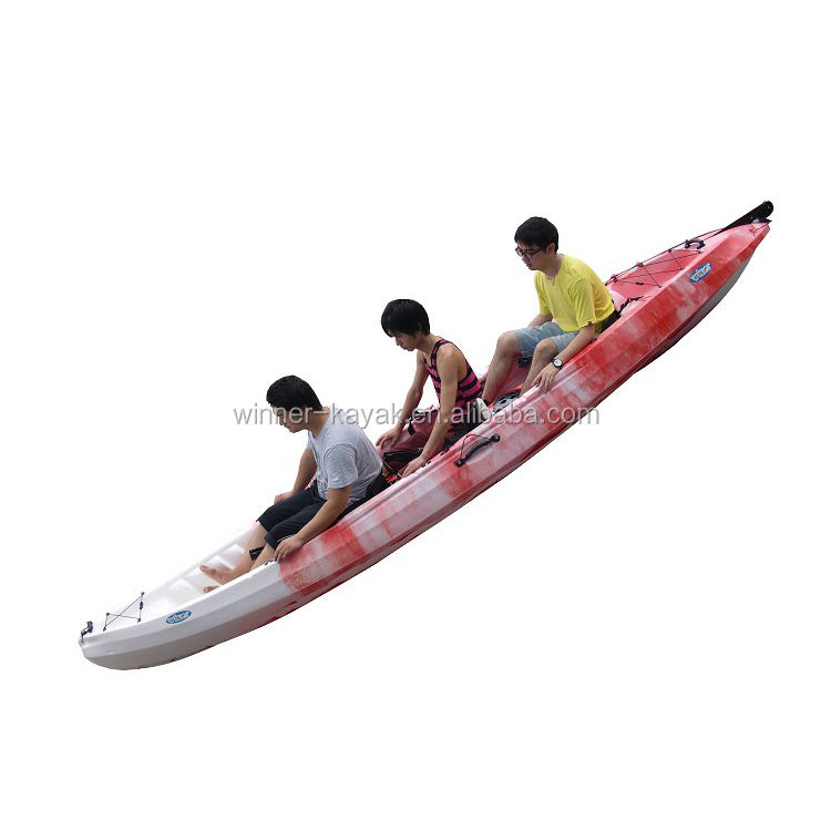 Plastic sit on top 3 person sea kayak
