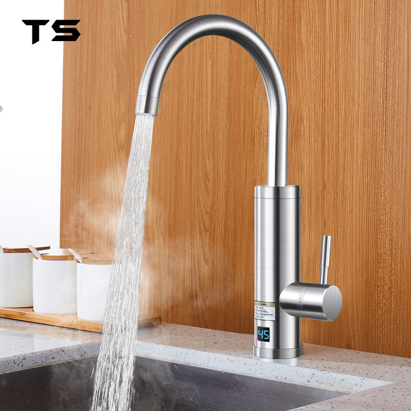 Deck mounted contemporary instant water heater thermostatic faucet