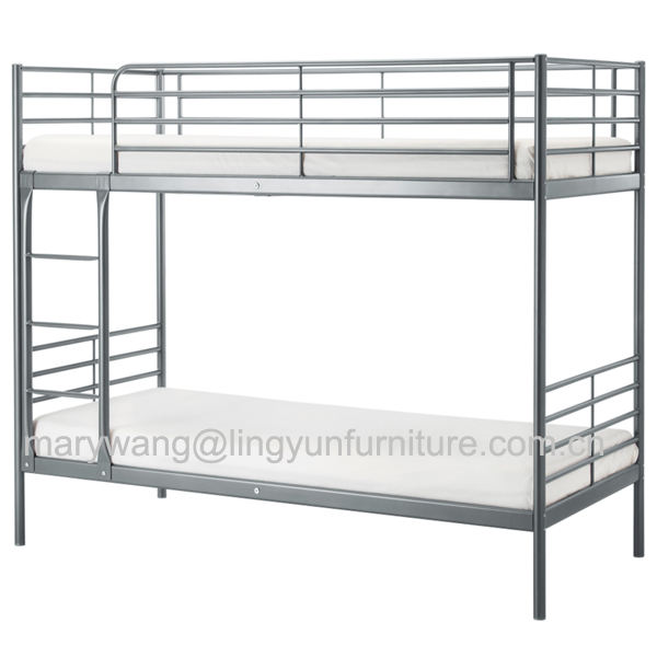 wholesale modern cheap kids adult bedroom furniture double bed whiter/black/pink/red wooden slates metal bunk bed, bunk beds