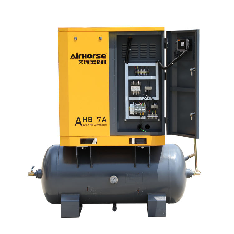 Hot sale compressing machine Tank Mounted Screw Air Compressor 5.5 KW 7.5 HP Nice Prices