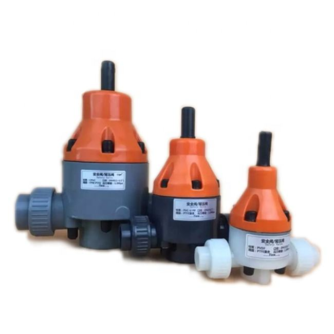 pvc plastic regulator safety relief back pressure valve for dosing metering pumps