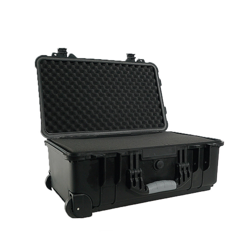 Extra large locked portable plastic storage box waterproof Shockproof locked luggage Boarding suit case with wheel