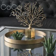 Cocostyles luxury and amazing brass gold plated aluminum tree decor for royal style home and five star hotel decor