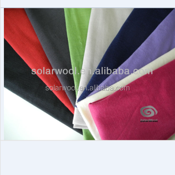 100% merino wool knitted fabric interlock