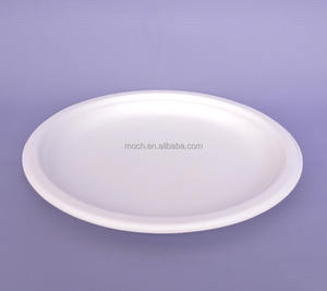 disposable 100% biodegradable round bagasse sugar cane paper plates