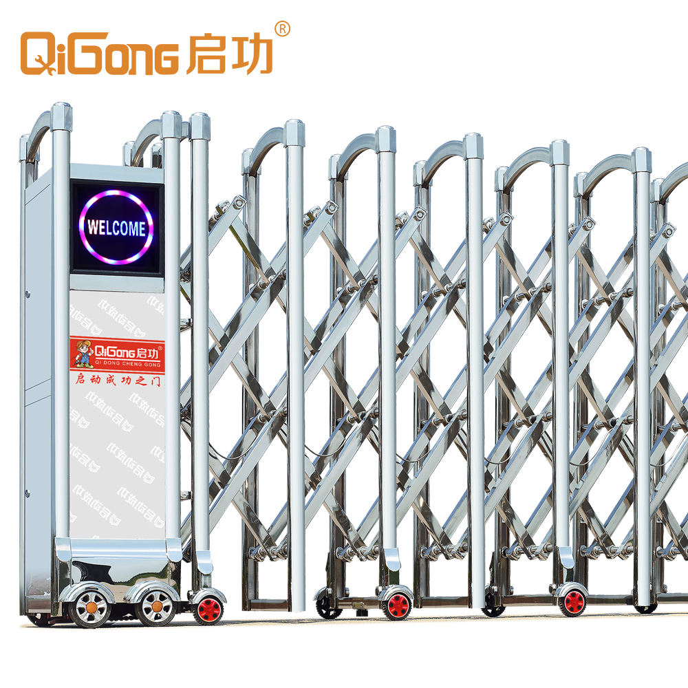 Best selling products stainless steel 304 indian house main gate retractable gate QG-J1715