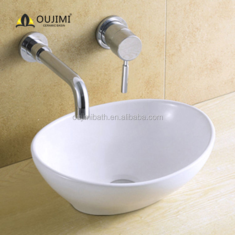 Small bathroom Home first choice single hole ceramic oval shaped basin sink toilet