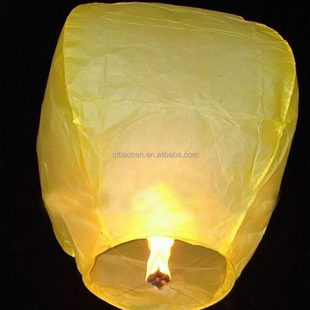 Wholesale White Chinese Paper Sky Flying Wishing Lantern Lamp Candle Party Wedding Wish paper lantern