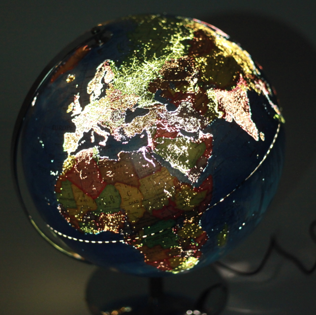 Very Hot New Style City Light World Globe with led light