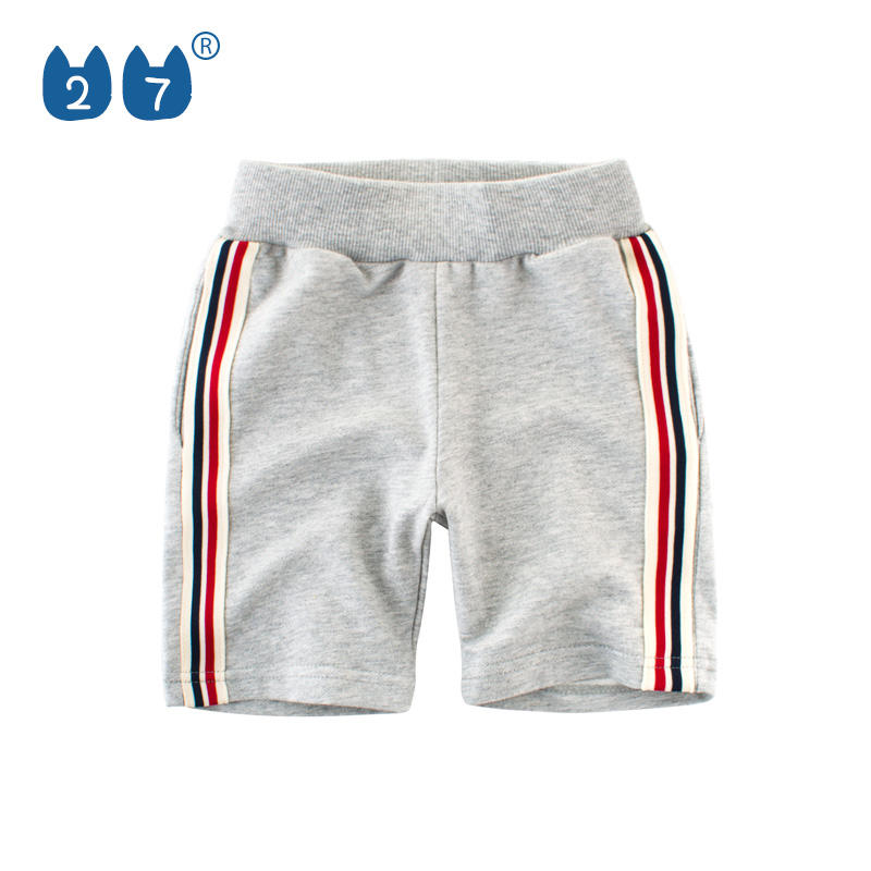 2019 Summer Wholesale boys sweat sports shorts with decoration tapes