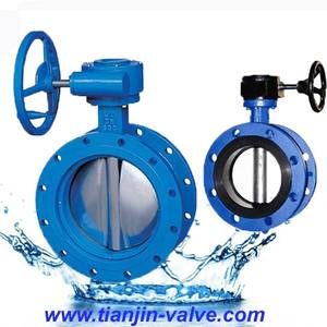 ptfe lining wafer butterfly valve with reducer