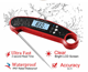 -50+300 Degree Stainless Steel Probe Water Temperature Digital Food Thermometer
