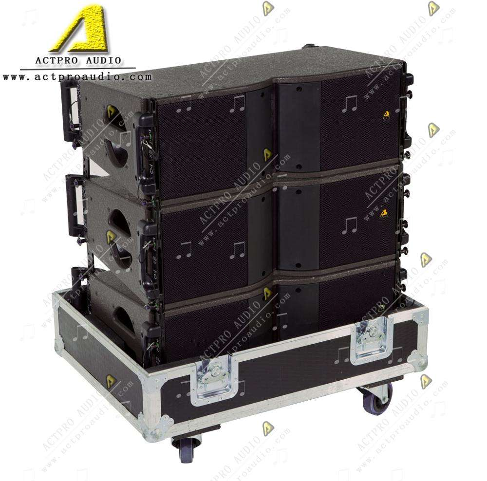 "KR208 line array double 8 inch high speaker professional audio two way top dual 8"" full range"