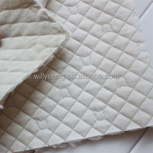 quilted fabric 100 cotton quality double sided quilted knit fabric warm for babies thermal fabric lining jacket trousers bedding