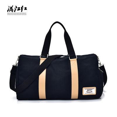 High quality men sport duffle bag canvas gym storage bag with shoes compartment travel bag