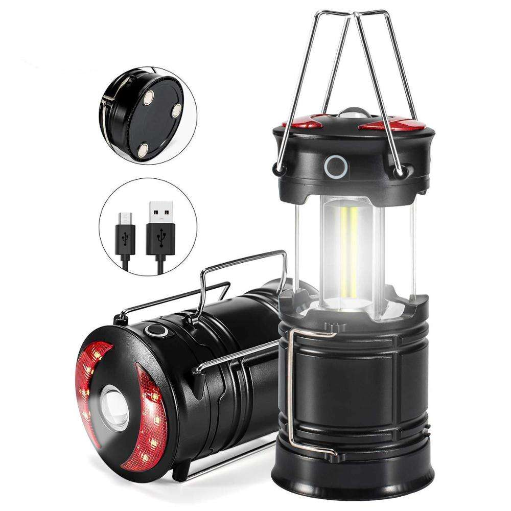 Get Free Sample 2 in 1 Collapsible USB Charger Outdoor Portable COB Led Camping Lantern with Magnetic