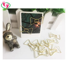Novelty Shiny Gold Ribbon Bow Tie Shaped Paper Clips for promotion