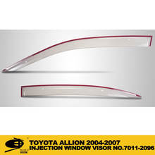 Window Vent Visor Deflector Rain Guard weather guard 4-pc Set INJECTION DOOR VISOR FOR TOYOTA ALLION 2004-2007