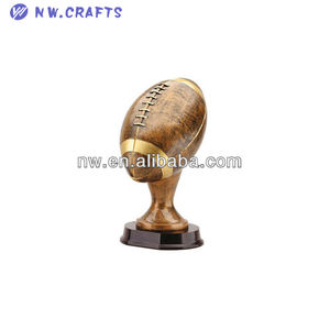 World football resin trophy