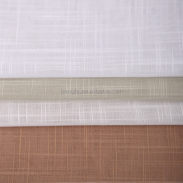 Best Selling Popular Turkish Dubai continuous cafe curtain fabric linen sheer