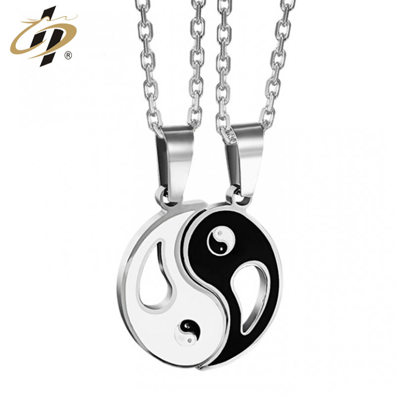 Fashion design high quality Yin and Yang Bagua metal amulet pendant