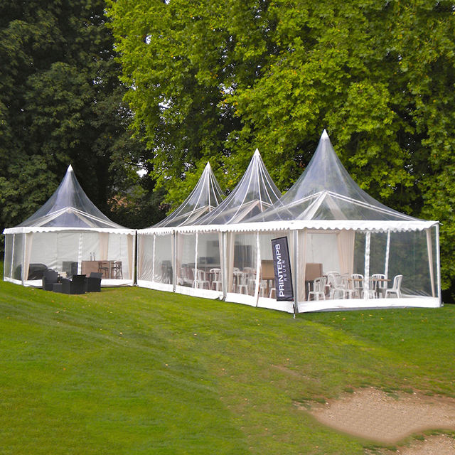 Party events& transparante tuin pagode tent