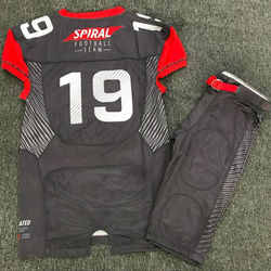 American football uniforms sublimation jersey tackle twill c