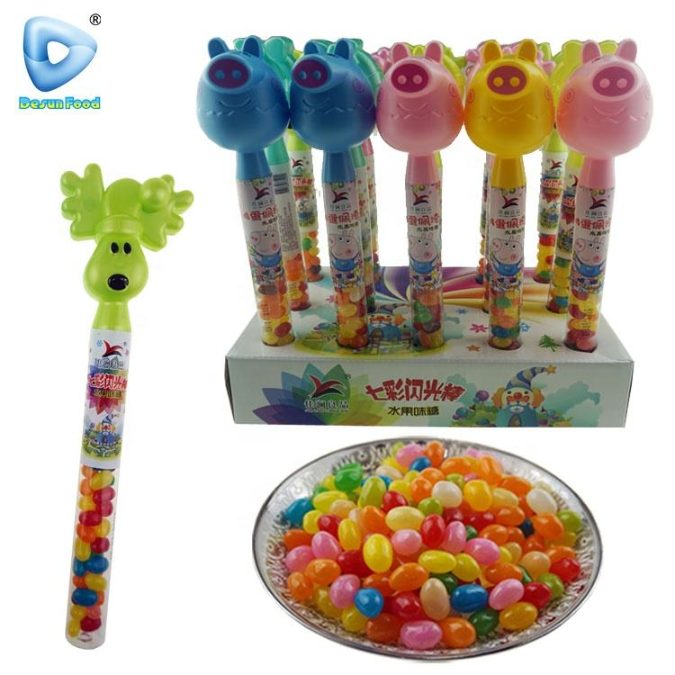 High quality lighting animal toys jelly candy sweet