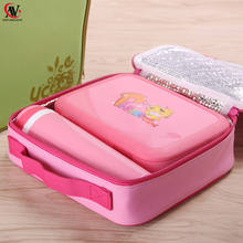 Wholesale plastic high quality lunch box with water bottle set for kid