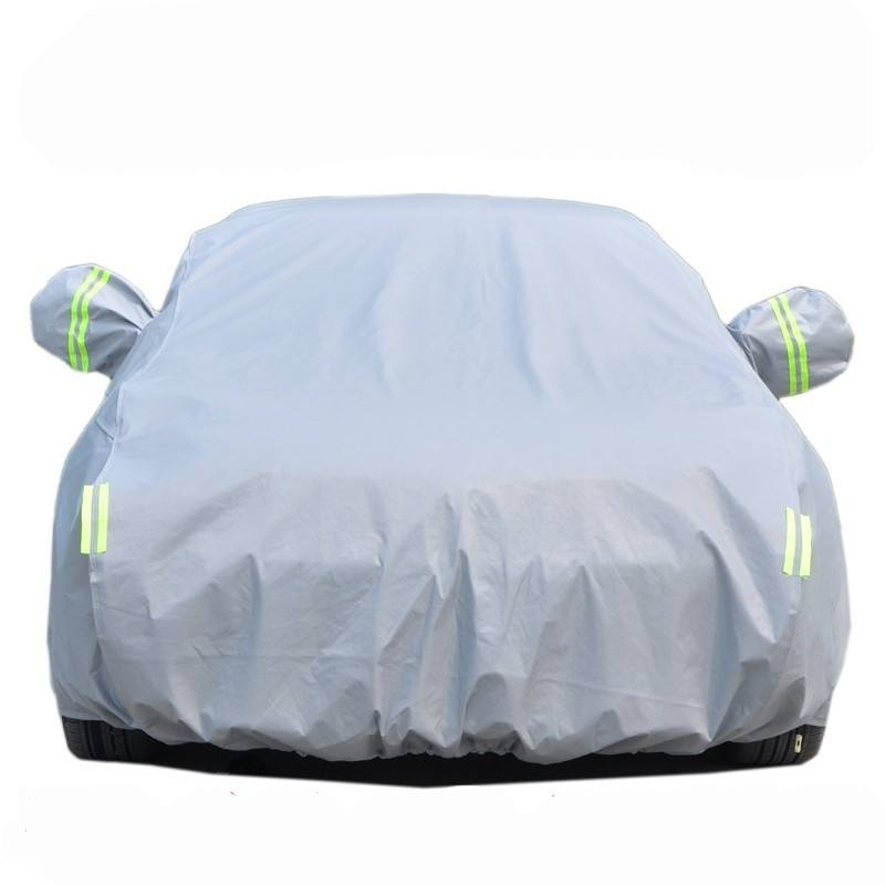 Customized Size Thicken Polyester Add Cotton Hoil Waterproof Car Body Protection Cover with side mirror cover
