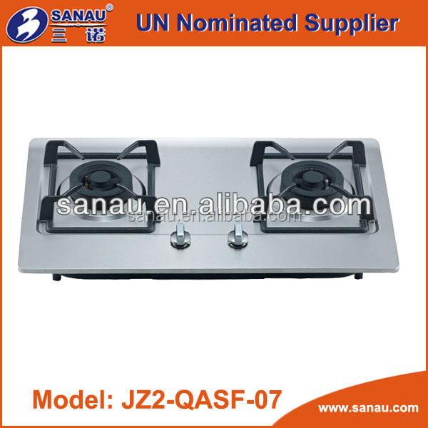 2 potencia del <span class=keywords><strong>quemador</strong></span> integrado - estufa de gas con cuerpo de acero inoxidable