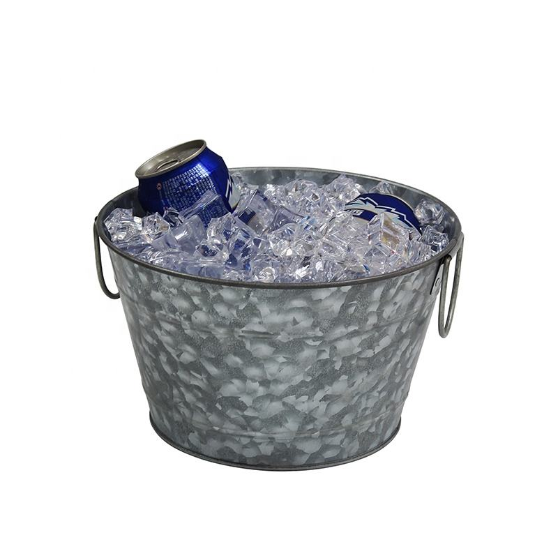 Party goods Custom personalized metal oval beer beverage ice galvanized tub with metal handle