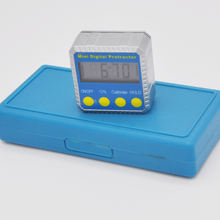 Digital Angle Gauge Mini Protractor Bevel Box LCD Display Clinometer Installed Battery