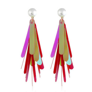 Colored Sequins Decorative Party Earrings