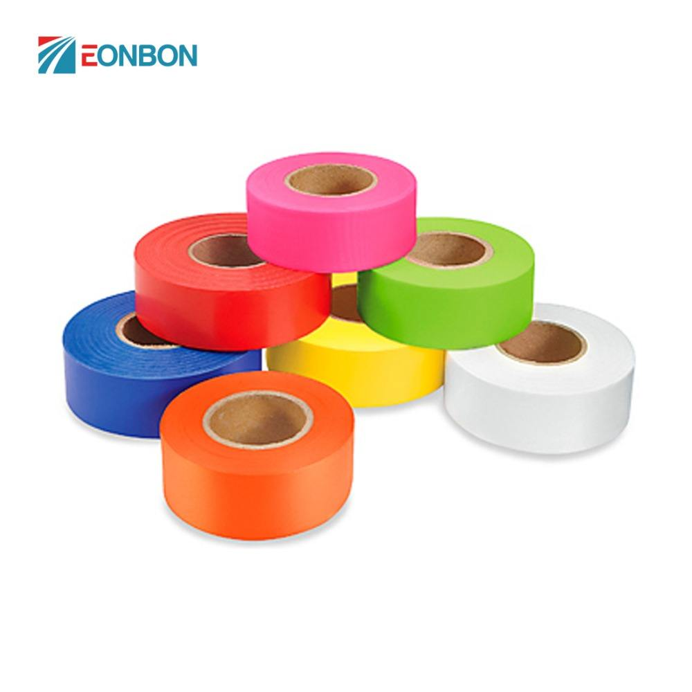 EONBON Free Samples Bright Florescent Colours Reflective Flagging Tape
