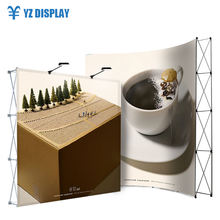Exhibition Stand Car Showroom Tension Fabric Aluminum Pop Up Display Rack