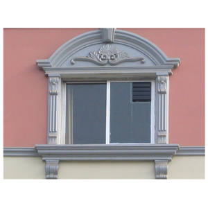 Foshan factory long life time fireproof durable exterior GRC window moulding for construction